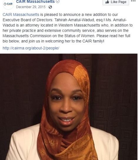 Tahirah Amatul-Wadud CAIR executive board of directors
