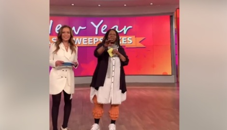 Whoopi Goldberg gets confronted on the set of The View